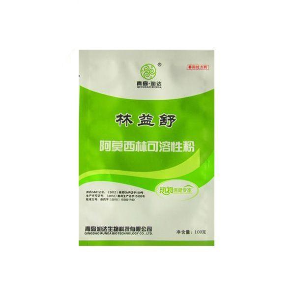 【润达生物】  10%林益舒 100克/袋×80袋阿莫西林可溶性粉 主要用于消化道、呼吸道、泌尿生殖道感染