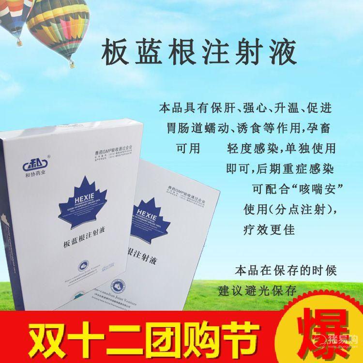 【和协药业】板蓝根注射液  猪牛羊鸡鸭鹅犬猫退烧热抗病毒   20盒包邮