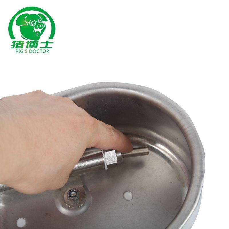 【冠江商贸】猪博士猪饮水碗 不锈钢饮水碗 椭圆猪用饮水器 猪自动饮水器 中号
