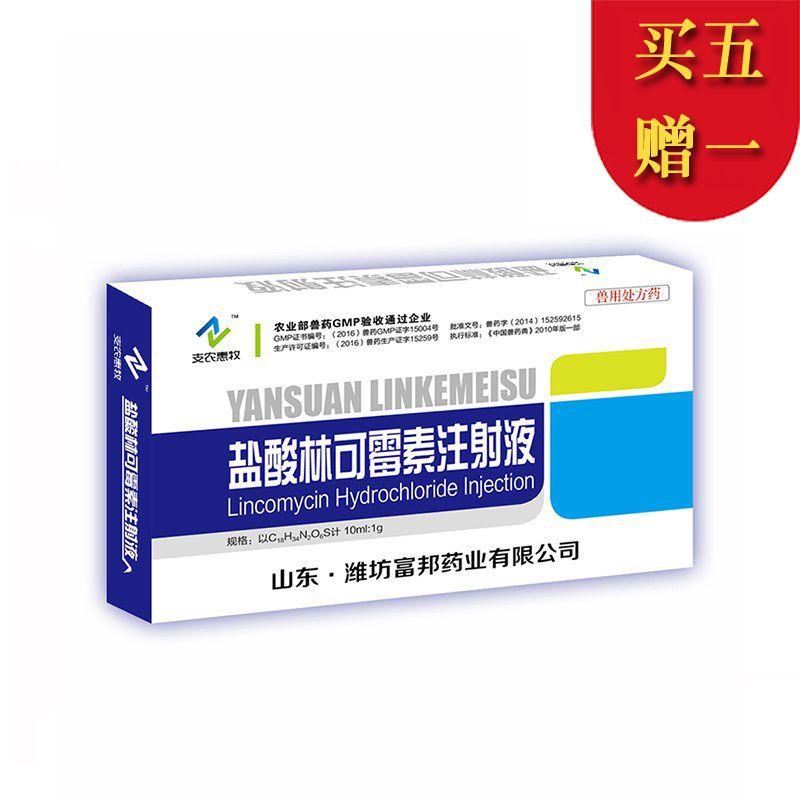 【支农惠牧】10%盐酸林可霉素注射液10ml/支*10支/盒 母猪子宫炎乳房炎预防治疗
