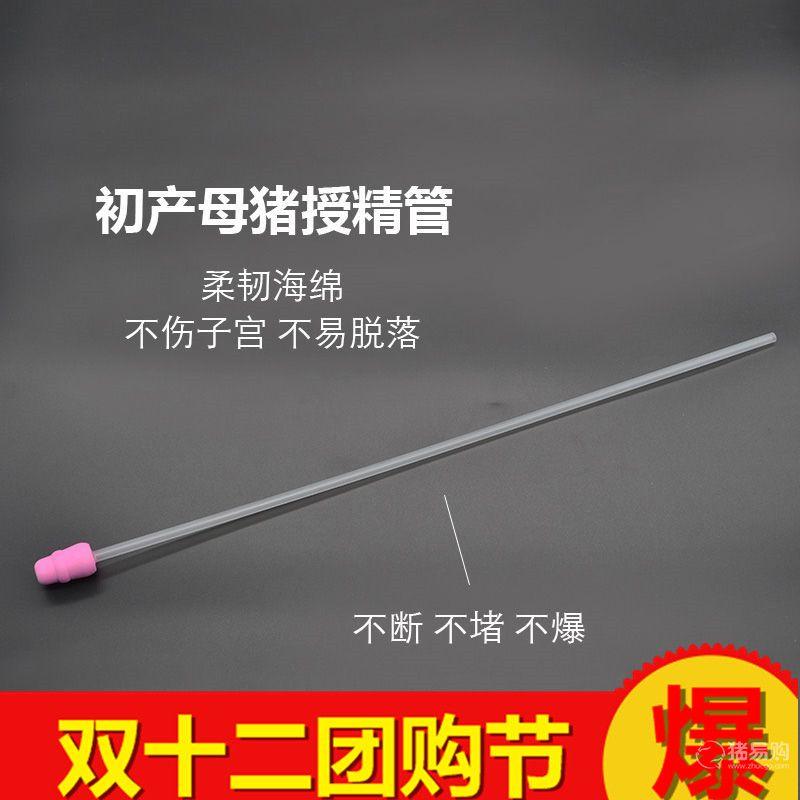 【华畜】猪用初产粉色小头输精管 初产母猪一次性输精管输精瓶养猪设备