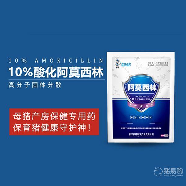 【哼哼动保】10%阿莫西林可溶性粉100g 全新组方,疗效提高6-8倍,主要用于母猪产后消炎和副嗜血杆菌病的预防和治疗